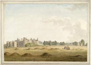 Cowdray House by Samuel Hieronymus Grimm, 1781
